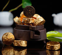 Китайский натуральный  чай  шу пуэр мини 5 грамм