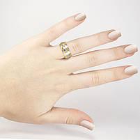 Кольцо серебристое с двумя золотистыми полосами Арт. RN088SL (21), фото 4