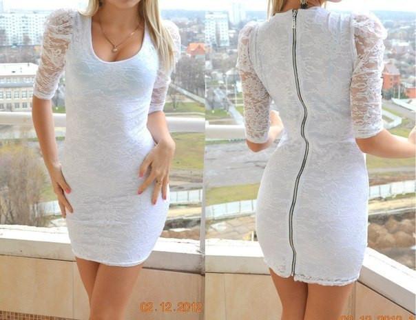 Гипюровое платье на молнии