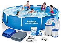 Каркасный бассейн bestway 56416 366 х 76 см.