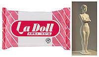 ЛаДолл, La Doll 500г, самозастывающая прочная глина, производство Япония, Padico