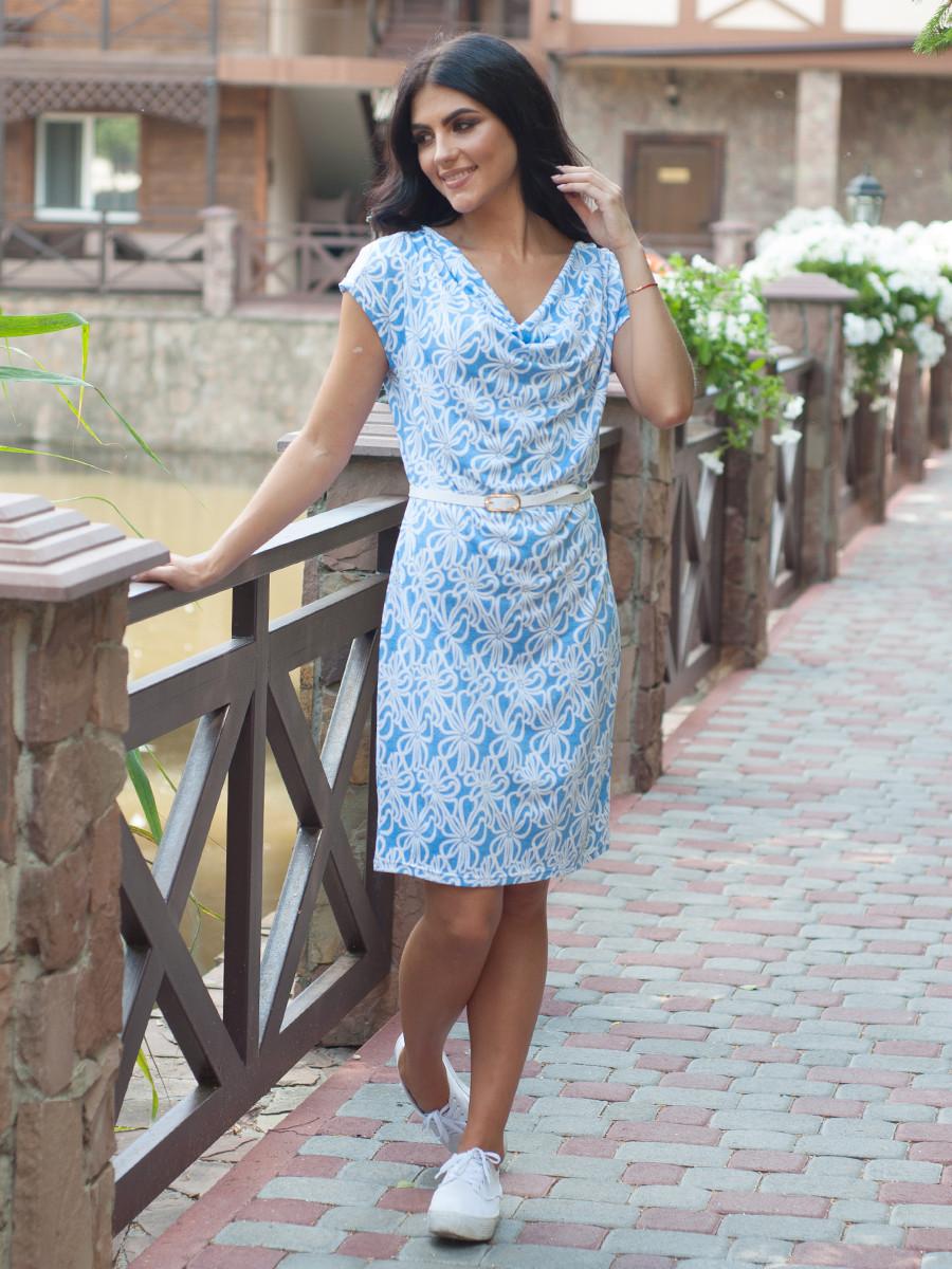 Женское летнее платье с узором Оливия 46,48,50,52,54