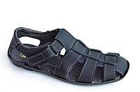 Босоножки сандалии мужские удобные практичные Львов темно синие (Код: 808). Только 43р!, фото 1