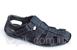Босоножки сандалии мужские удобные практичные Львов темно синие (Код: 808)