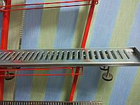 Дренажная решетка из оцинкованной стали SitaDrain длиной 1м, h 30мм