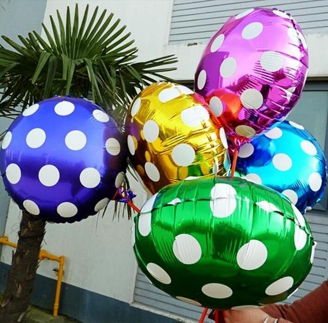 Круглые фольгированные шары с рисунком