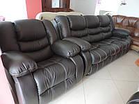 Кожаная мебель с реклайнером, кресло релакс, диван recliner