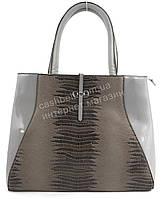 Оригинальная стильная качественная сумка с лицевой вставкой под рептилию SOFIYA art. SF-883 бежевая (100808)