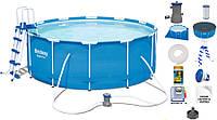 Каркасный бассейн bestway 56420-2 366 х 122 см.