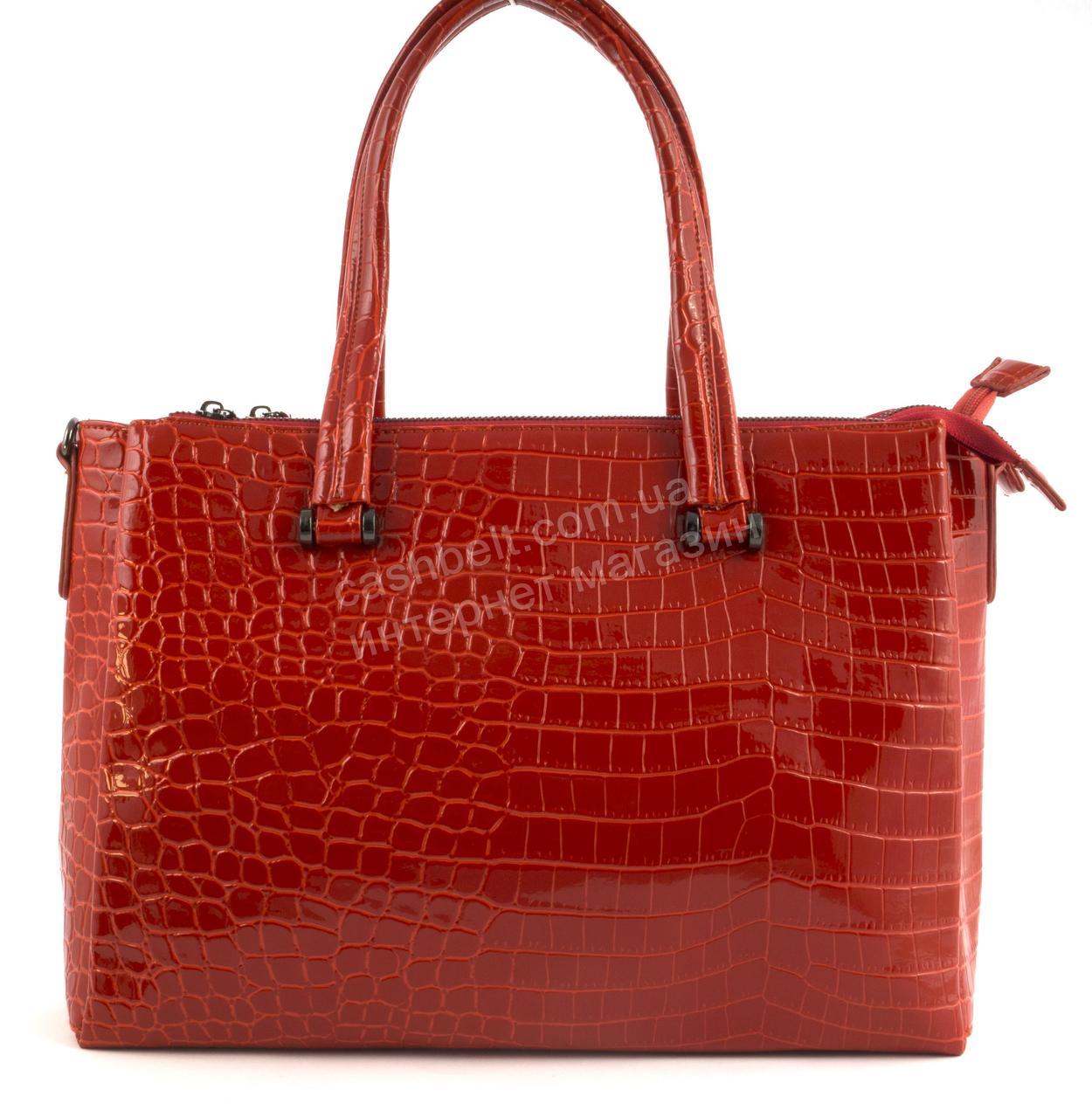 b2f808a4f0ff Яркая стильная качественная лаковая сумка под рептилию SOLANA art. 3688-1  красная