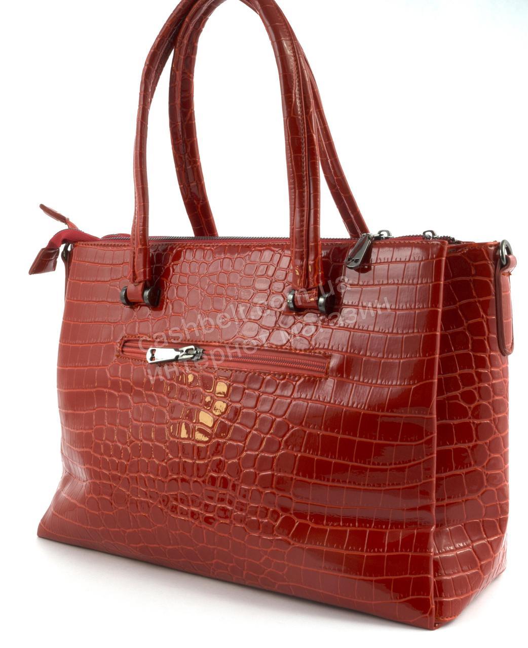 a4141f6da087 ... фото Яркая стильная качественная лаковая сумка под рептилию SOLANA art.