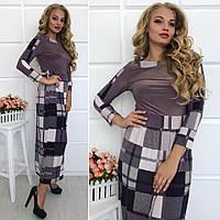 Платье женское макси 63- юбка в клетку, фото 1
