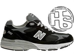 Мужские кроссовки New Balance 993 USA Black WR993BK. Любимые кроссовки Джобса