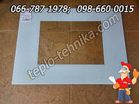 Стекло импортной плиты размером 59,4х44 см белое панорамное, фото 1