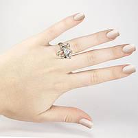 Кольцо серебристое Клевер с фианитом Арт. RN094SL (16), фото 3