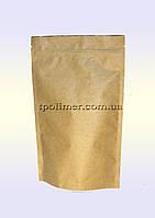 Пакеты Дой-пак 140х240 мм для кофе, чая (Крафт+металл)