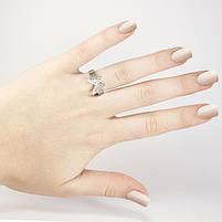 Кольцо серебристое Бабочка Арт. RN098SL (17), фото 4