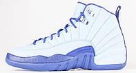 Женские кроссовки Air Jordan 12 Retro White/Blue