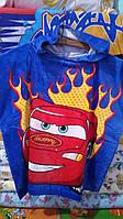 Полотенце детское пляжное  с капюшоном Тачки