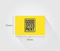 Визитки стандарт со скруглением 85х55 мм, от 500 шт.