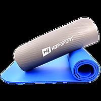 Йога коврик из вспененного каучука  «HOP-SPORT NBR-10» 1730x610x10мм