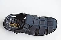 Босоножки сандалии мужские удобные практичные Львов темно синие (Код: 808а). Только 43р!, фото 1