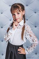 Блуза школьная с воротником белая