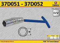 Ключ свечной 16мм,  TOPEX  37D052