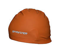 Шапочка для плавания комбинированная.Цвет:оранжевый. PU-1117