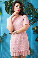 """Элегантное розовое платье """"Франческа"""" выполнено из легкого хлопка"""