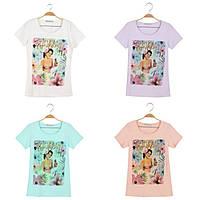 Женская футболка оптом, Glo-story, S,M,L,XL рр., № WPO-7388, фото 1