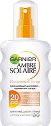 Солнцезащитный спрей GARNIER AMBRE SOLAIRE Идеальный загар, SPF 20, 240мл