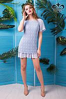 """Элегантное голубое платье """"Франческа"""" выполнено из легкого хлопка"""