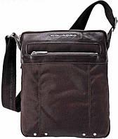 Наплечная надежная мужская сумка из нейлона Piquadro Link, CA1591LK_TM коричневый