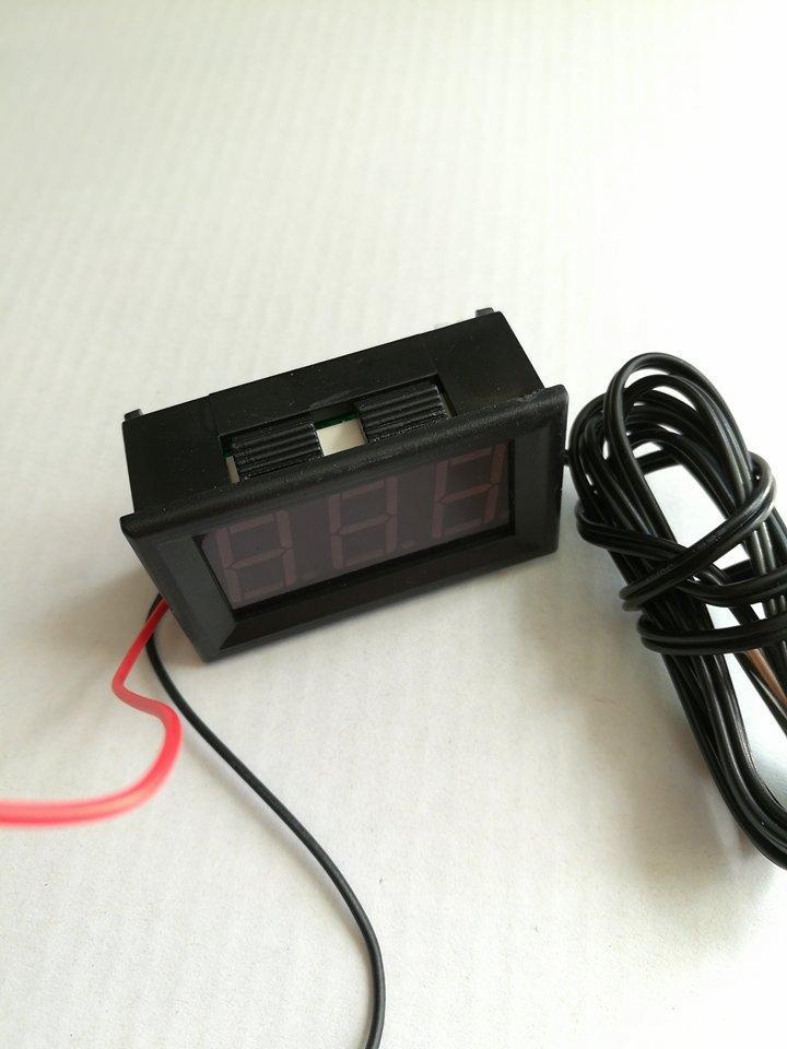 Термометр LED красн -50+100C #100442