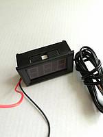 Цифровой термометр с датчиком 1м LED свечение красное