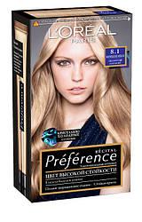 Краска для волос L`Oreal Paris Recital Preference, Тон 8.1 - Cветло-русый пепельный