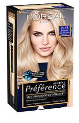 Краска для волос L`Oreal Paris Recital Preference, Тон 9.13 - Очень светло-русый пепельный золотистый