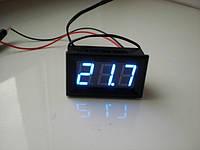 Цифровой термометр с датчиком щуп 1м LED свечение красное