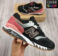 Мужские кроссовки New Balance 997.5, черные, материал - натуральная замша, подошва - REVlite