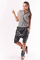 Блузка без рукава в полоску one size