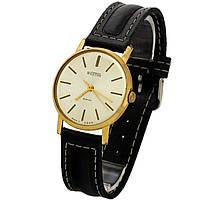 Позолоченные часы с датой Wostok 18 jewels shockproof balance, фото 1