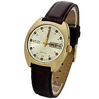 Slava 27 jewels made in USSR позолоченные часы с календарем, фото 1