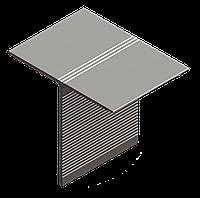 Профиль алюминиевый Т-образный 70*60*1,7 реф