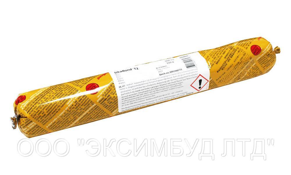 Высокопрочный эластичный клей SikaBond-T2, 600 мл.