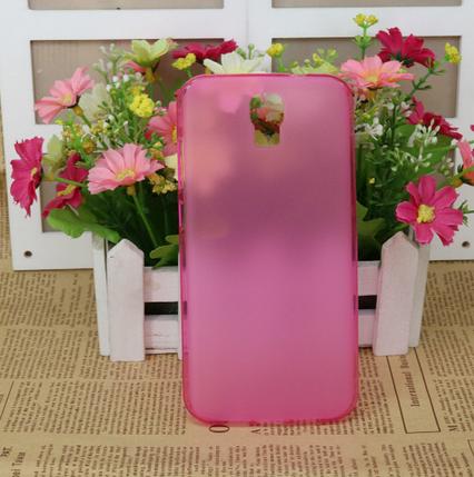 Силиконовый чехол для Bravis A553 Discovery Dual Sim розовый, фото 2