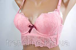 Бюстгальтер корсетного типа В WeiyeSi № 5177 Розовый