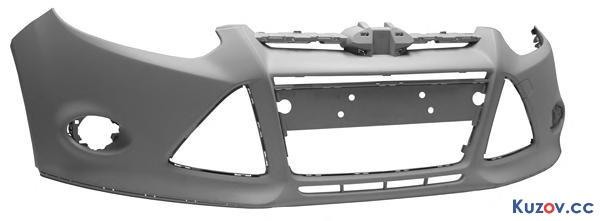 Передний бампер Ford Focus III 11-, грунт (FPS)
