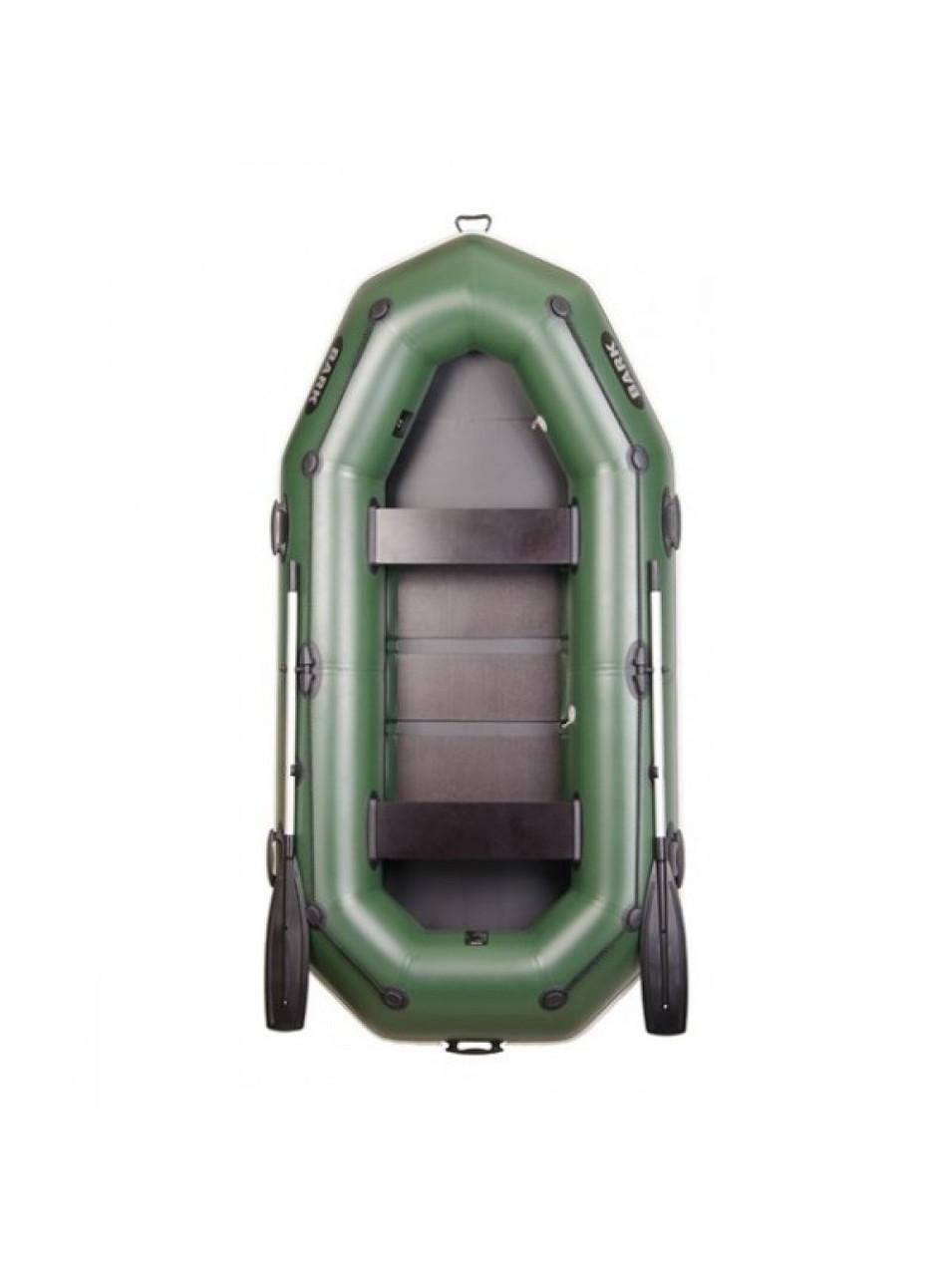 Надувная лодка Барк В-280р трехместная гребная