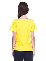 Футболка жіноча, жовта, фото 3
